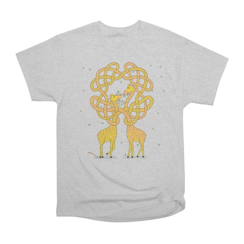 When Giraffes Fight Men's Heavyweight T-Shirt by Cumulo 7