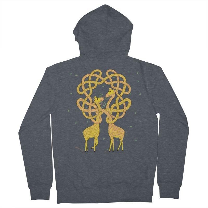 When Giraffes Fight Women's French Terry Zip-Up Hoody by cumulo7's Artist Shop