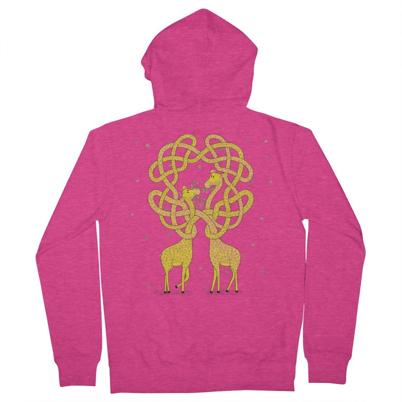 When Giraffes Fight Women's French Terry Zip-Up Hoody by Cumulo 7