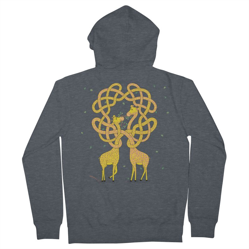 When Giraffes Fight Men's Zip-Up Hoody by Cumulo 7