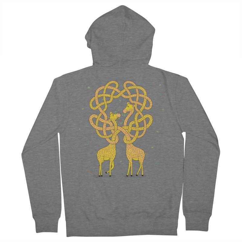 When Giraffes Fight Men's Zip-Up Hoody by Cumulo 7
