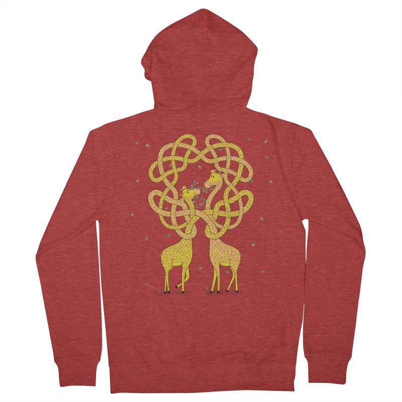 When Giraffes Fight Men's Zip-Up Hoody by cumulo7's Artist Shop