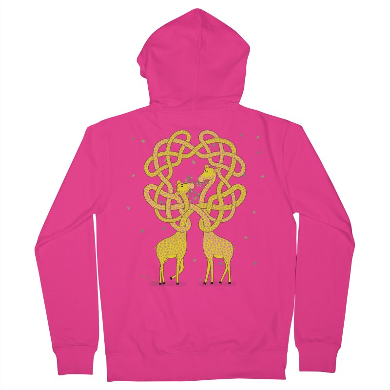 When Giraffes Fight Men's French Terry Zip-Up Hoody by Cumulo 7
