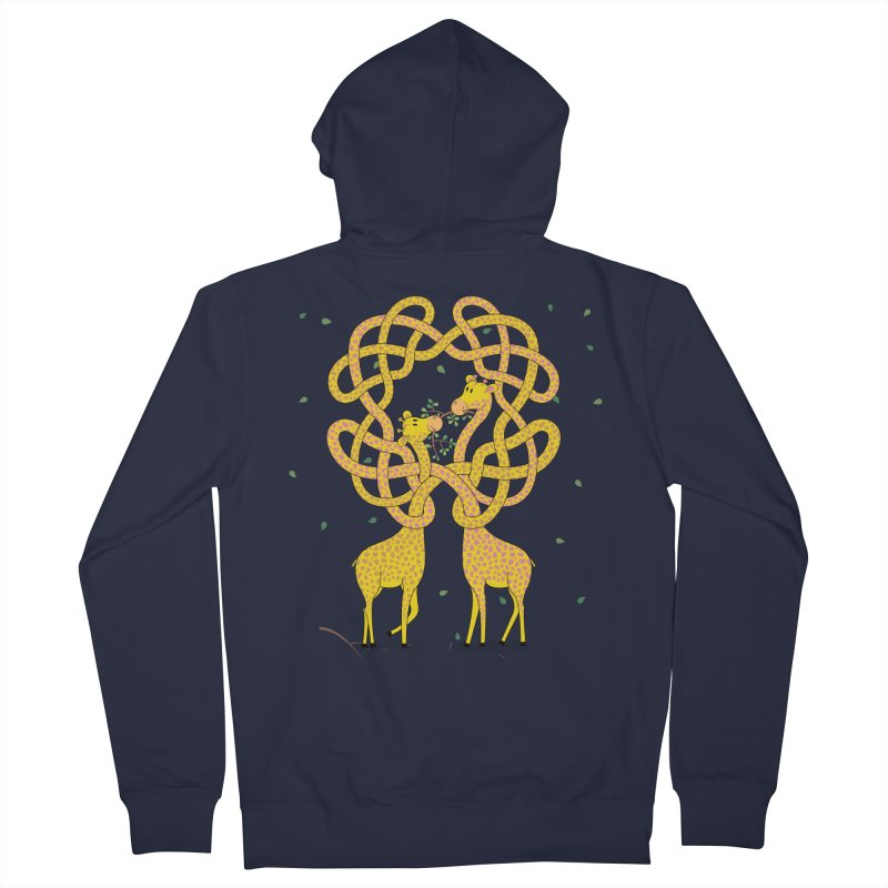 When Giraffes Fight Men's French Terry Zip-Up Hoody by cumulo7's Artist Shop