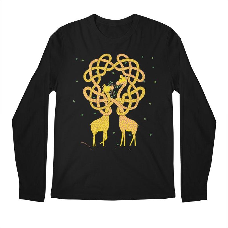 When Giraffes Fight Men's Regular Longsleeve T-Shirt by Cumulo 7