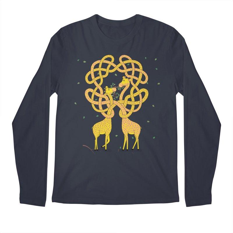 When Giraffes Fight Men's Regular Longsleeve T-Shirt by cumulo7's Artist Shop