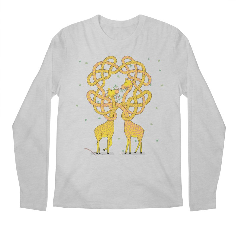 When Giraffes Fight Men's Regular Longsleeve T-Shirt by Cumulo 7