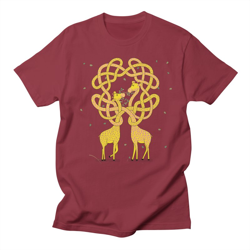 When Giraffes Fight Men's Regular T-Shirt by Cumulo 7