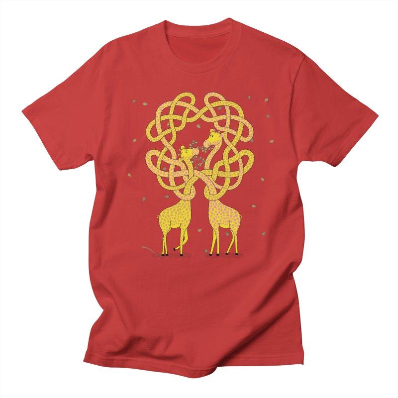 When Giraffes Fight Women's Regular Unisex T-Shirt by cumulo7's Artist Shop