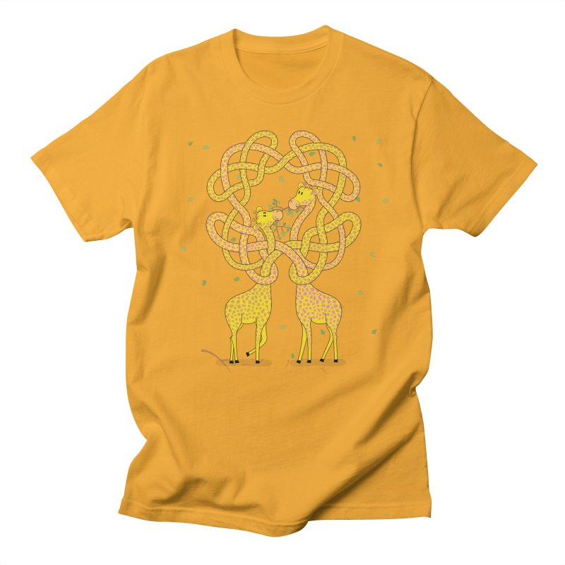 When Giraffes Fight Men's Regular T-Shirt by cumulo7's Artist Shop