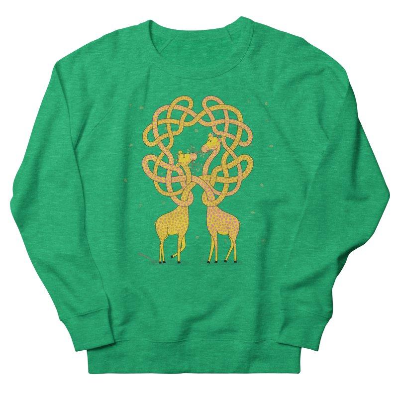 When Giraffes Fight Women's French Terry Sweatshirt by cumulo7's Artist Shop