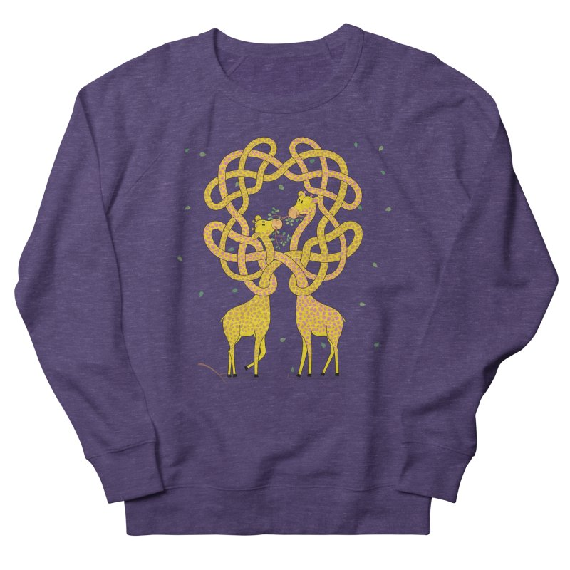 When Giraffes Fight Women's French Terry Sweatshirt by cumulo7's Artist Shop