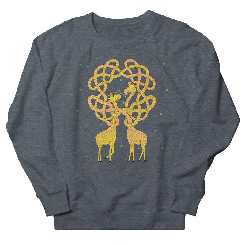 When Giraffes Fight Women's French Terry Sweatshirt by Cumulo 7