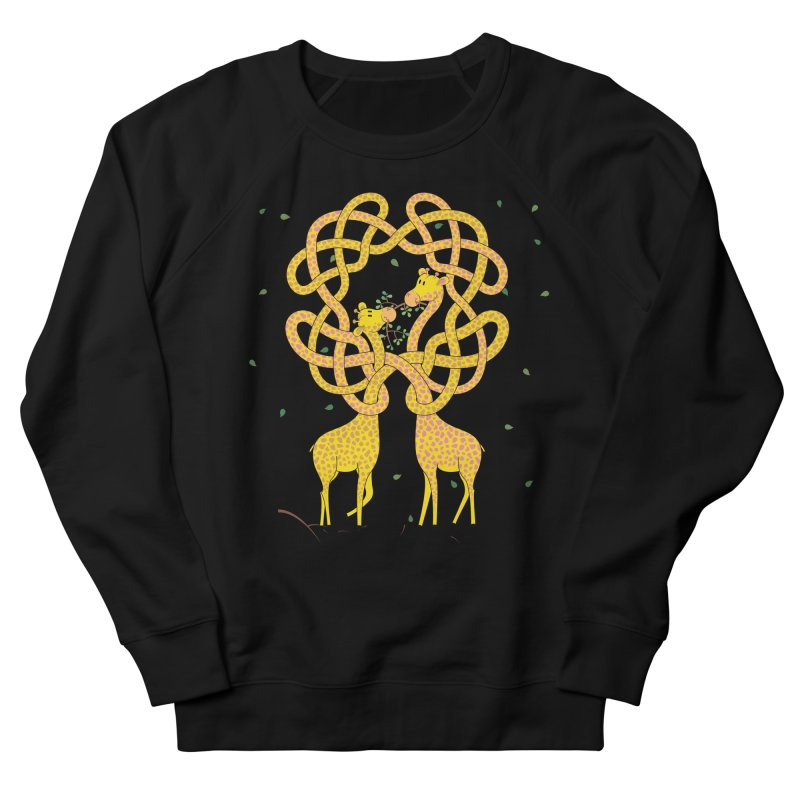 When Giraffes Fight Women's French Terry Sweatshirt by Cumulo 7