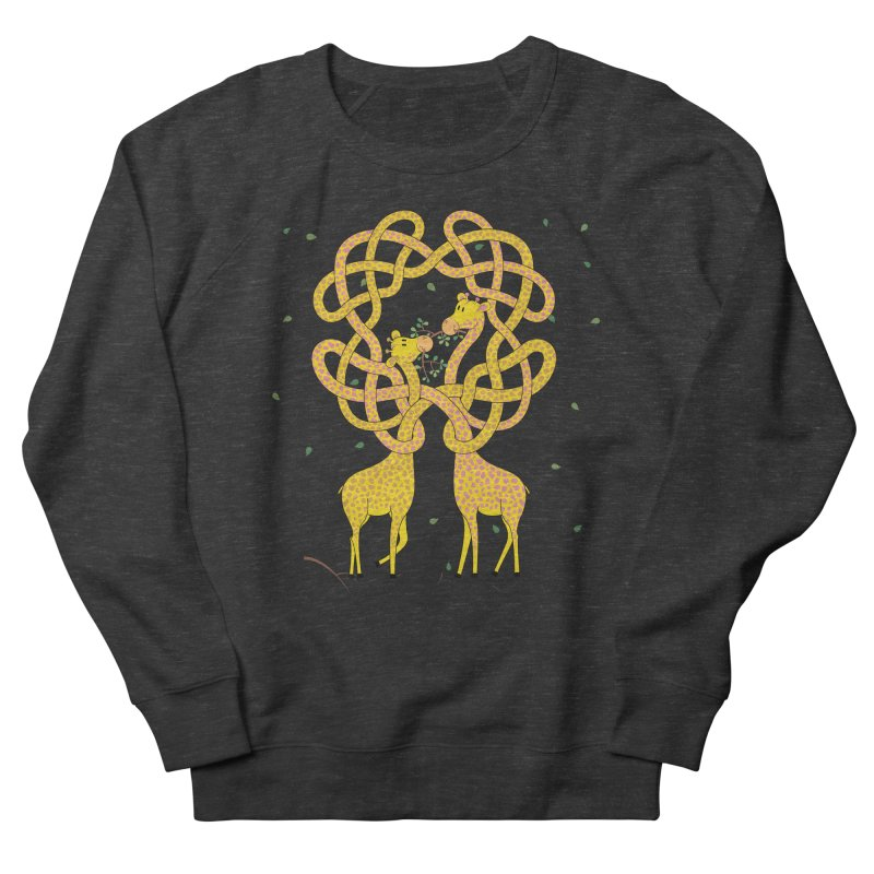 When Giraffes Fight Men's French Terry Sweatshirt by Cumulo 7
