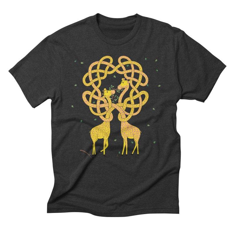 When Giraffes Fight Men's Triblend T-Shirt by cumulo7's Artist Shop