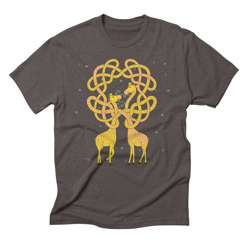 When Giraffes Fight Men's Triblend T-Shirt by cumulo7's Artist Shop