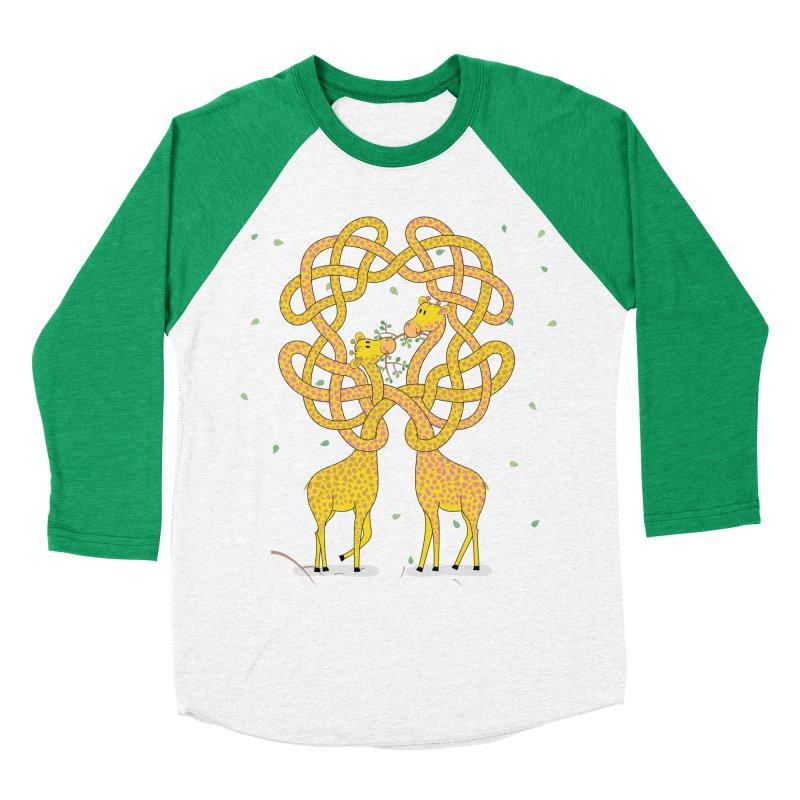 When Giraffes Fight Women's Baseball Triblend Longsleeve T-Shirt by Cumulo 7