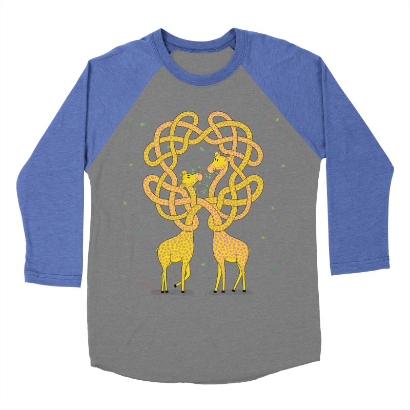 When Giraffes Fight Women's Baseball Triblend T-Shirt by cumulo7's Artist Shop
