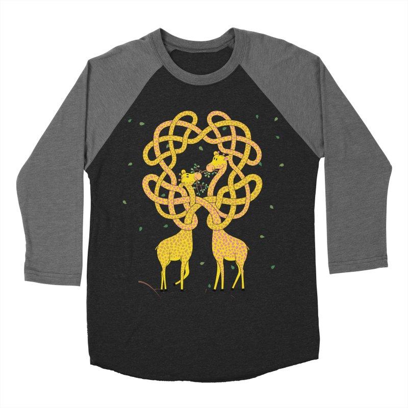 When Giraffes Fight Men's Baseball Triblend Longsleeve T-Shirt by Cumulo 7