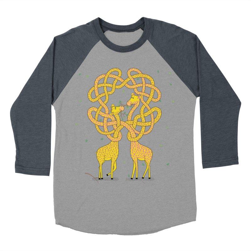 When Giraffes Fight Men's Baseball Triblend Longsleeve T-Shirt by cumulo7's Artist Shop