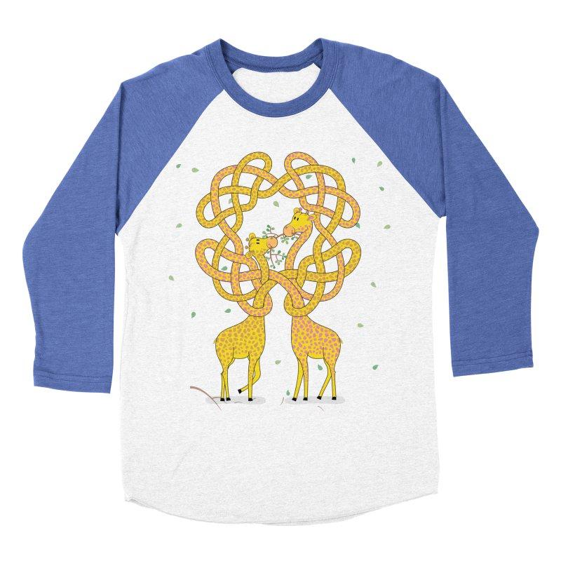 When Giraffes Fight Men's Baseball Triblend T-Shirt by cumulo7's Artist Shop
