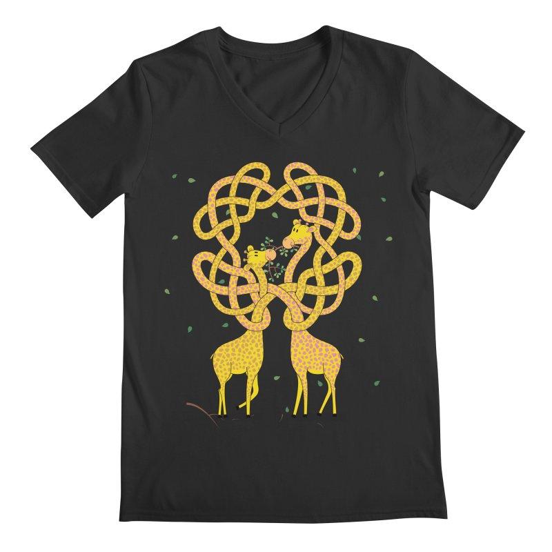 When Giraffes Fight Men's Regular V-Neck by cumulo7's Artist Shop
