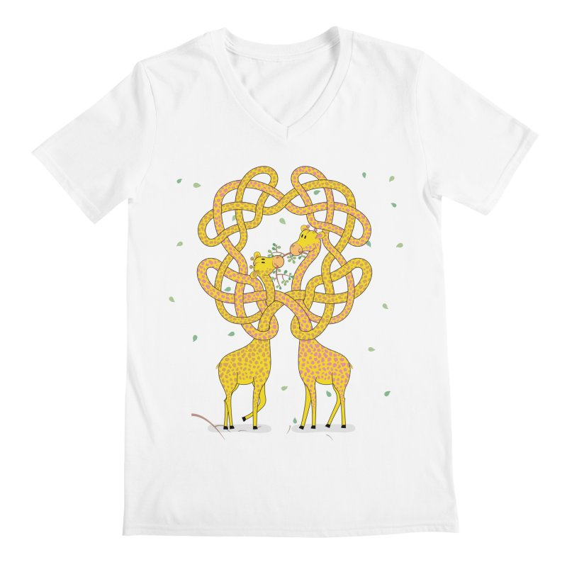 When Giraffes Fight Men's V-Neck by cumulo7's Artist Shop