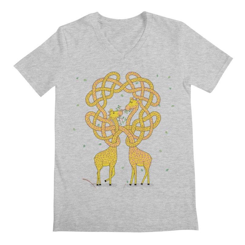 When Giraffes Fight Men's Regular V-Neck by Cumulo 7