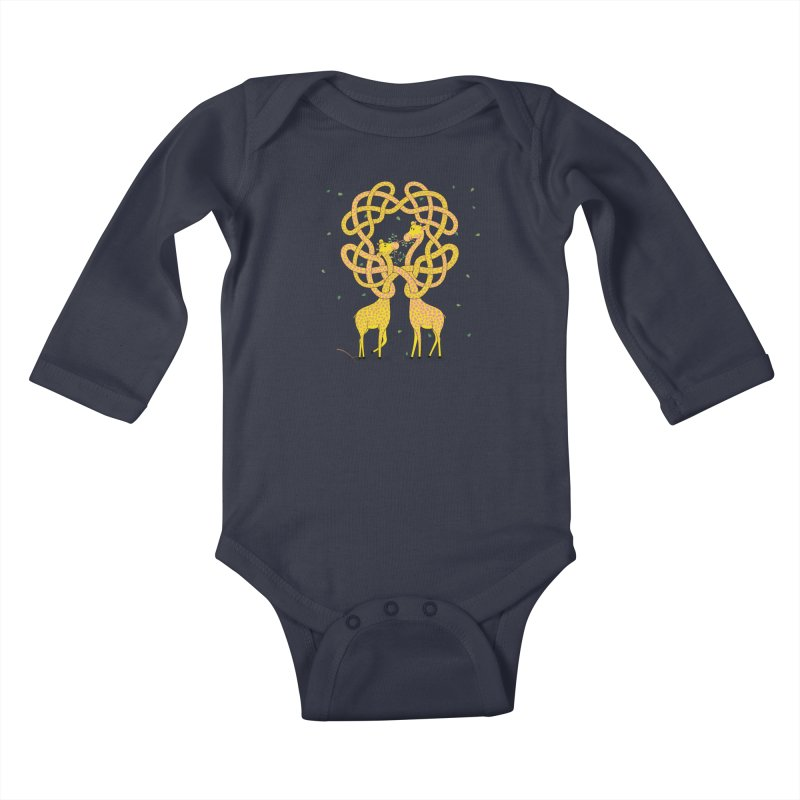 When Giraffes Fight Kids Baby Longsleeve Bodysuit by Cumulo 7
