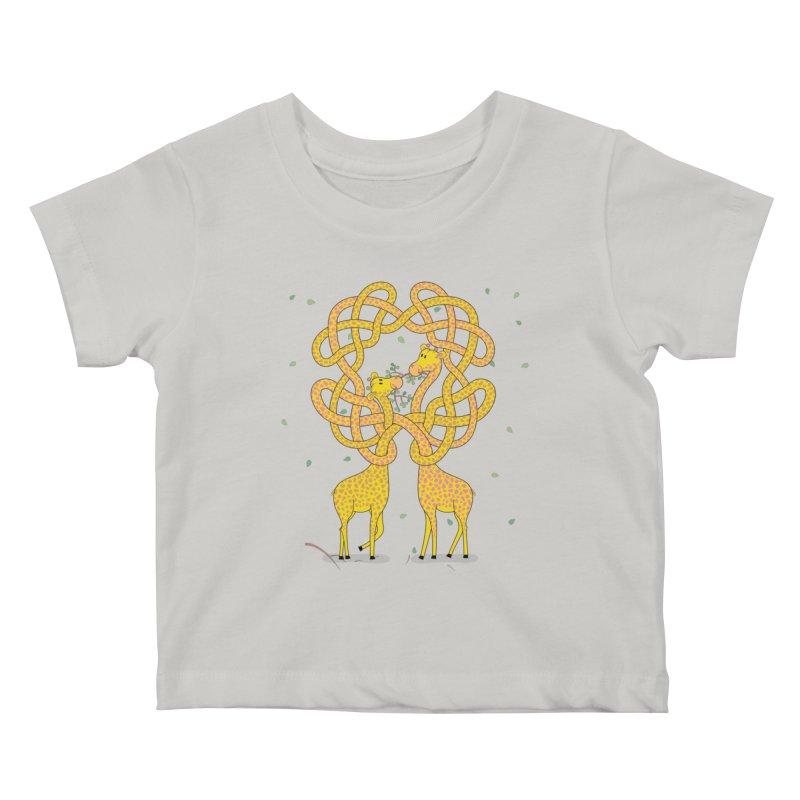 When Giraffes Fight Kids Baby T-Shirt by cumulo7's Artist Shop