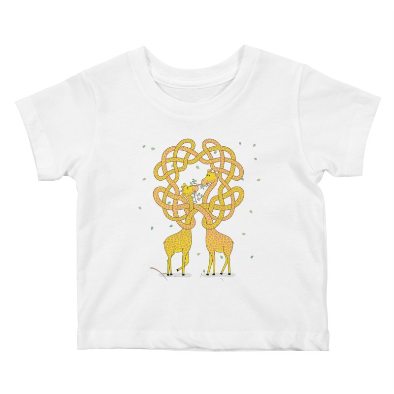 When Giraffes Fight Kids Baby T-Shirt by Cumulo 7