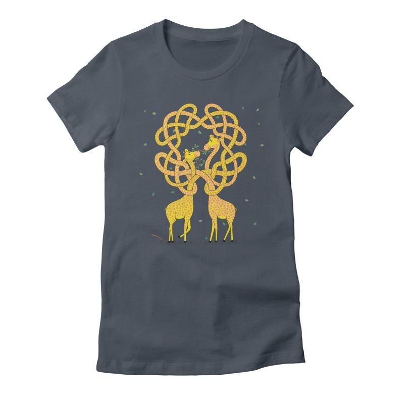 When Giraffes Fight Women's T-Shirt by Cumulo 7