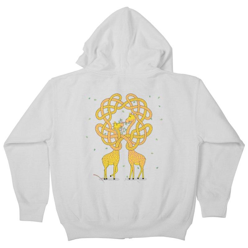 When Giraffes Fight Kids Zip-Up Hoody by cumulo7's Artist Shop
