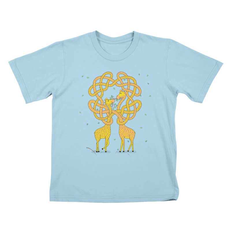 When Giraffes Fight Kids T-Shirt by cumulo7's Artist Shop