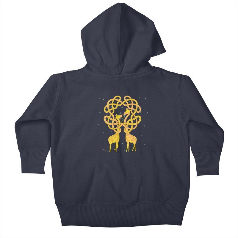 When Giraffes Fight Kids Baby Zip-Up Hoody by Cumulo 7