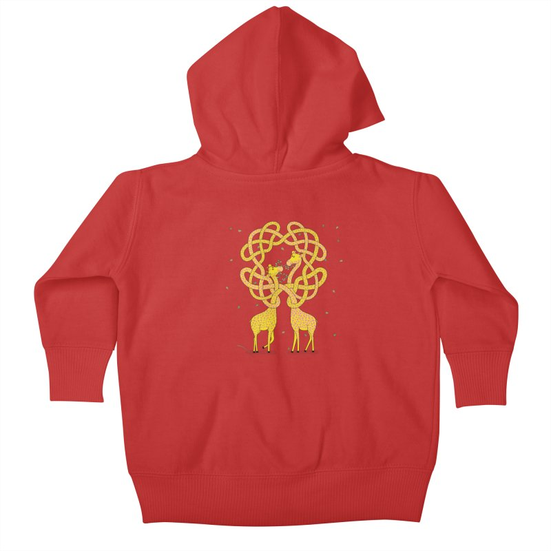 When Giraffes Fight Kids Baby Zip-Up Hoody by cumulo7's Artist Shop