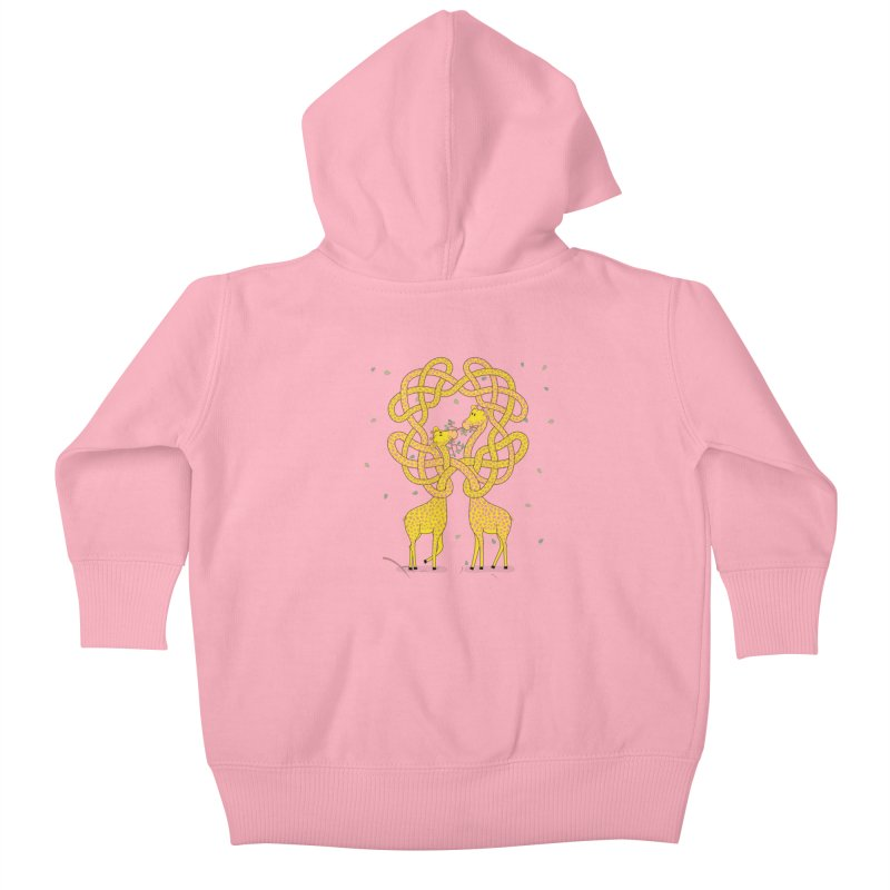When Giraffes Fight Kids Baby Zip-Up Hoody by cumulo7's Artist Shop