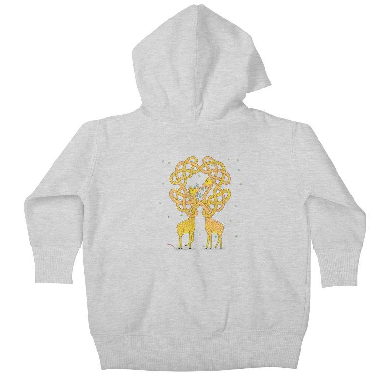 When Giraffes Fight Kids Baby Zip-Up Hoody by Cumulo 7