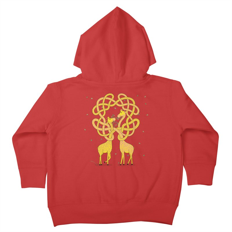 When Giraffes Fight Kids Toddler Zip-Up Hoody by Cumulo 7