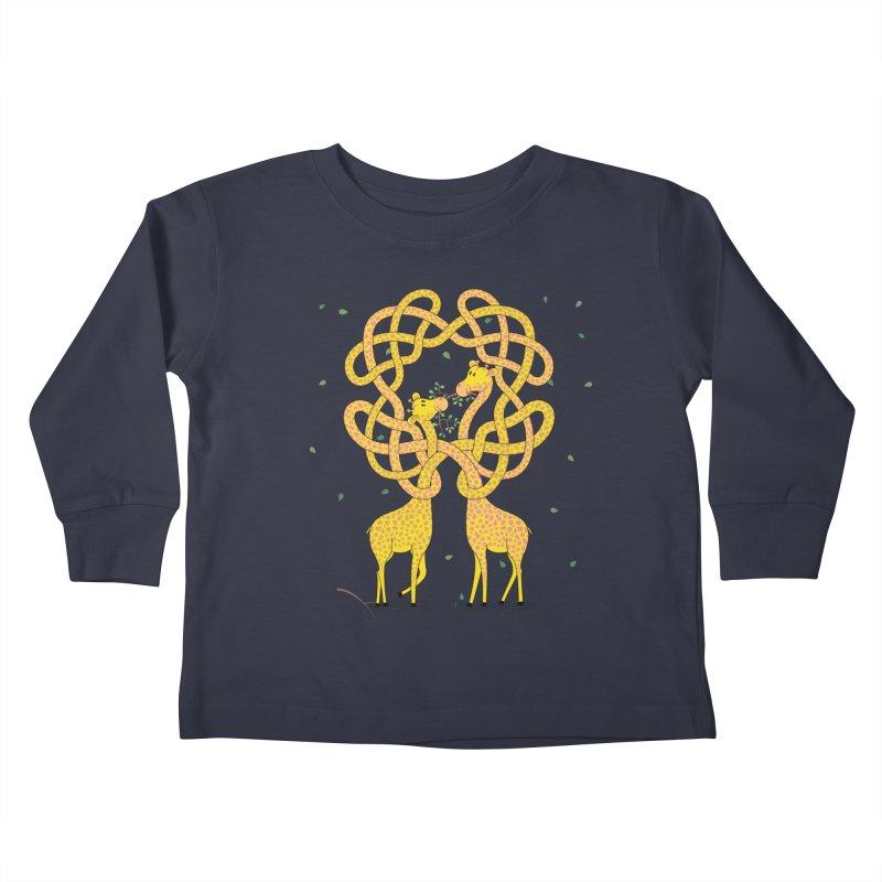 When Giraffes Fight Kids Toddler Longsleeve T-Shirt by cumulo7's Artist Shop