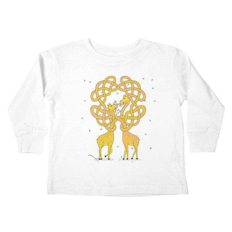 When Giraffes Fight Kids Toddler Longsleeve T-Shirt by Cumulo 7