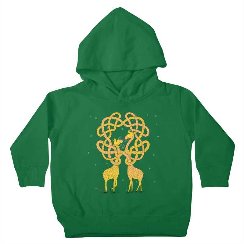 When Giraffes Fight Kids Toddler Pullover Hoody by Cumulo 7