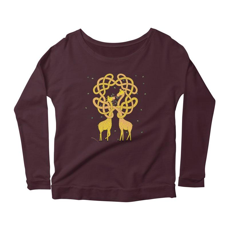 When Giraffes Fight Women's Scoop Neck Longsleeve T-Shirt by cumulo7's Artist Shop