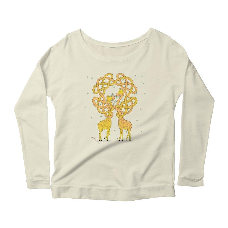 When Giraffes Fight Women's Scoop Neck Longsleeve T-Shirt by Cumulo 7