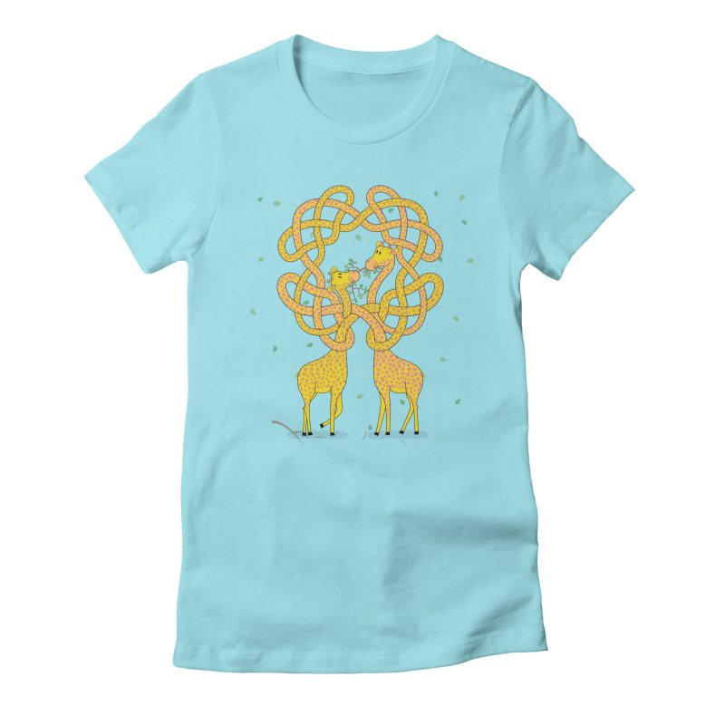 When Giraffes Fight Women's Fitted T-Shirt by Cumulo 7