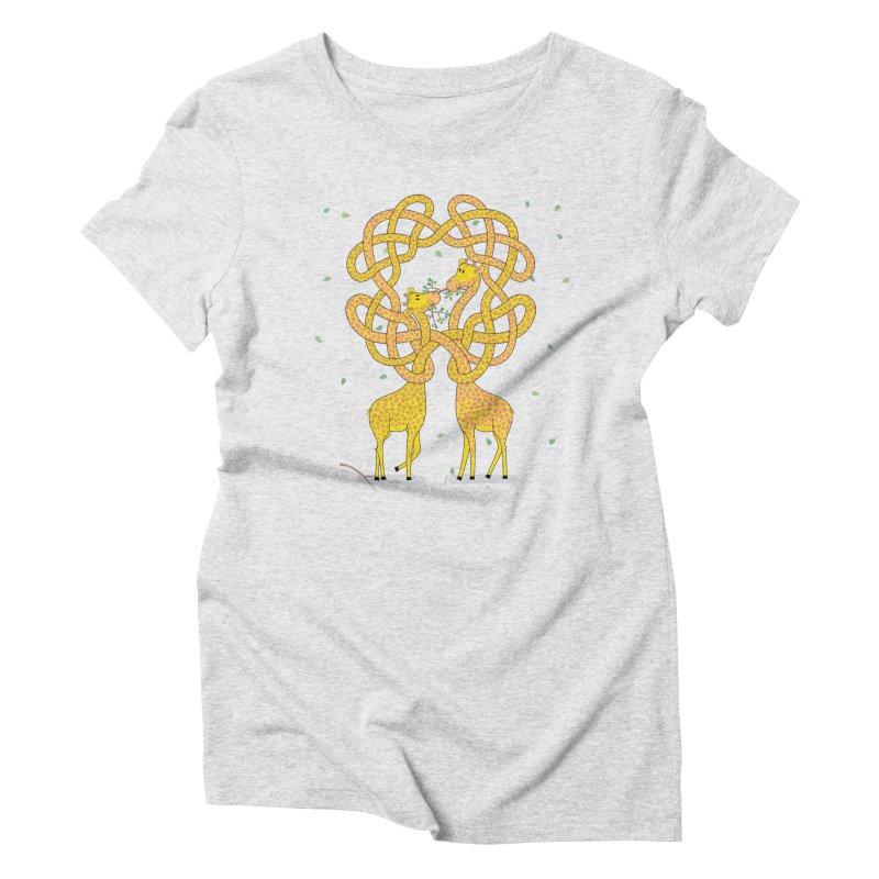 When Giraffes Fight Women's Triblend T-Shirt by cumulo7's Artist Shop