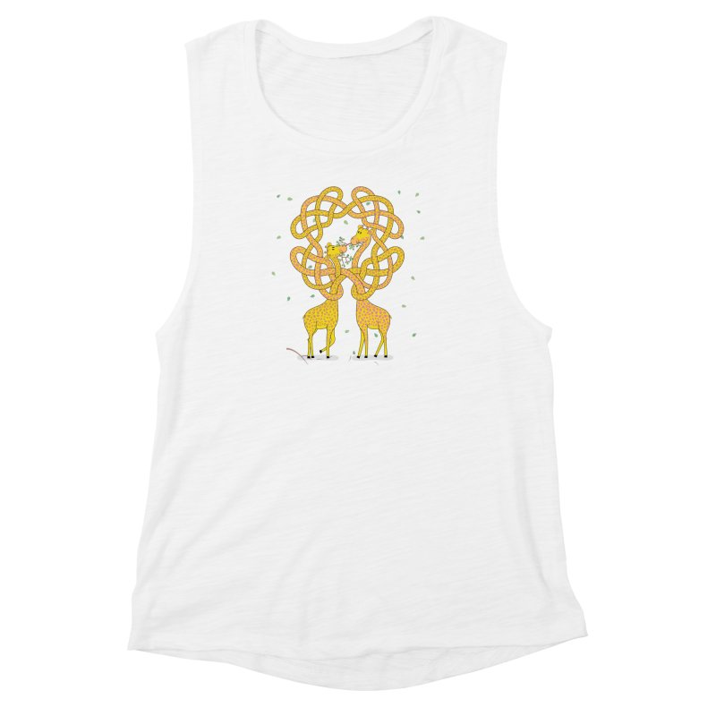 When Giraffes Fight Women's Muscle Tank by cumulo7's Artist Shop
