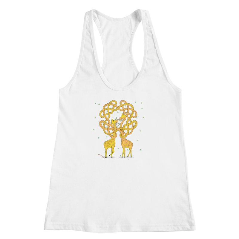 When Giraffes Fight Women's Racerback Tank by Cumulo 7