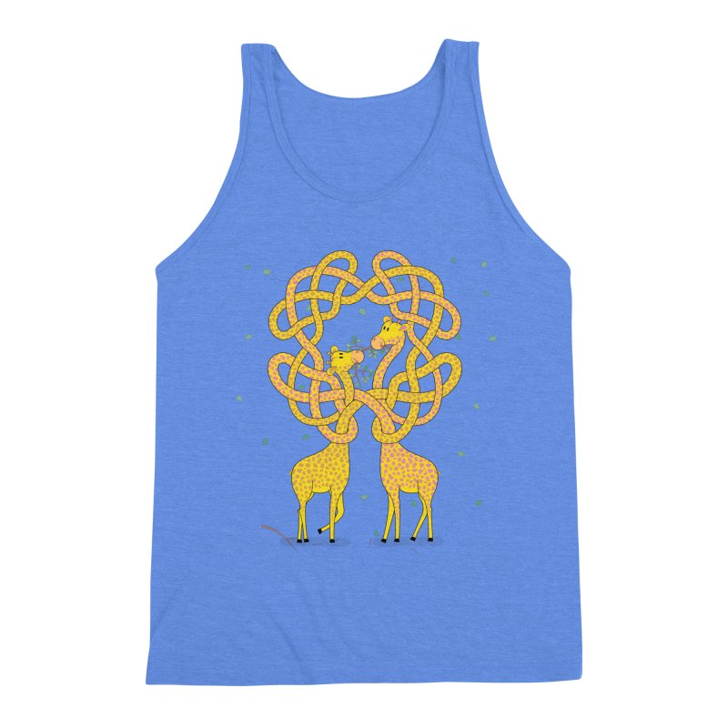 When Giraffes Fight Men's Triblend Tank by Cumulo 7